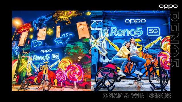 SNAP & WIN OPPO RENO5 5 G