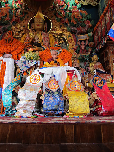 Long life puja with 5 dakinis at Kopan Monastery December, 2012.