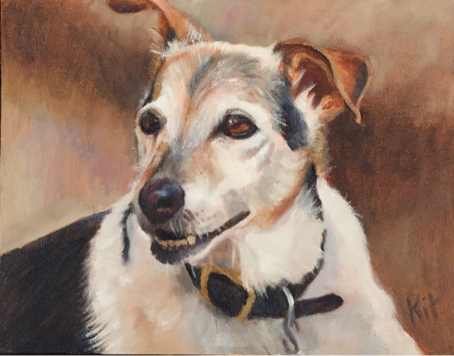 Jack Russell Terrier, painting