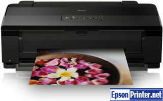 How to reset flashing lights for Epson 1500 printer