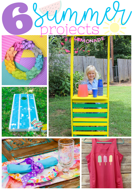 6 Summer Projects at GingerSnapCrafts.com #summer #projects #DIY