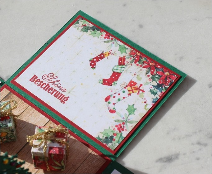 Explosion Box Weihnachten Christmas Poinsettia Christbaum Stampin Up Es weihnachtet sehr 03