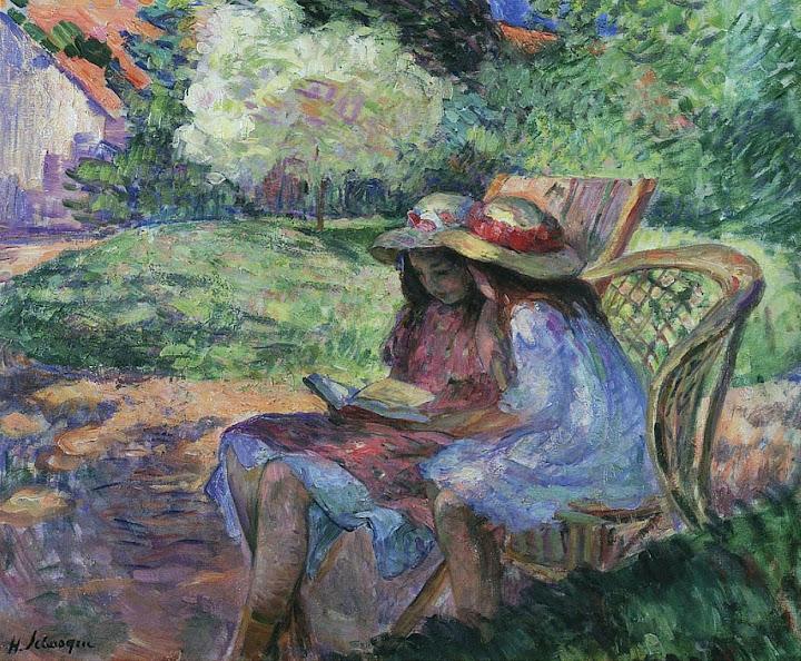 Henri Lebasque - Reading in the Park