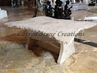 "Stone Coffee Table, L50"" x 38"""