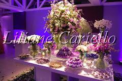 Fotos de decoração de casamento de Casamento Karen e Jorge no Clube Marimbás da decoradora e cerimonialista de casamento Liliane Cariello que atua no Rio de Janeiro e Niterói, RJ.
