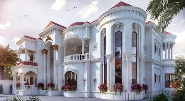 Mẫu thiết kế biệt thự cổ điển theo phong cách hoàng gia