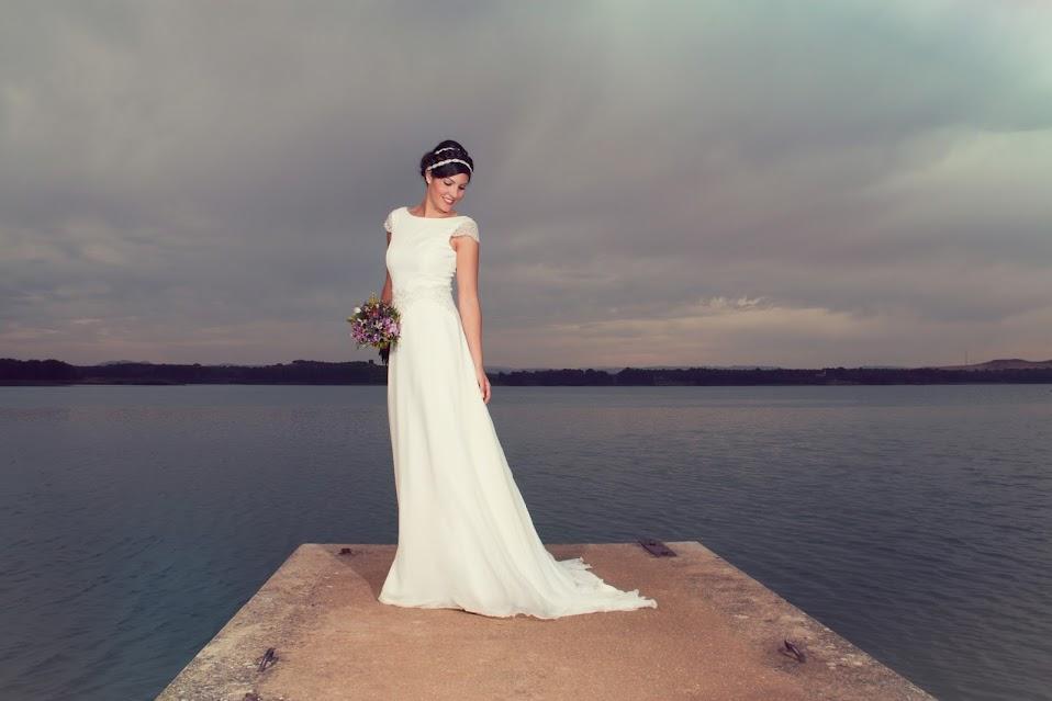 Vestido de novia de seda