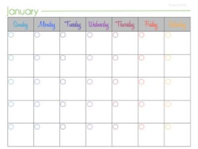 free blank calendar printable
