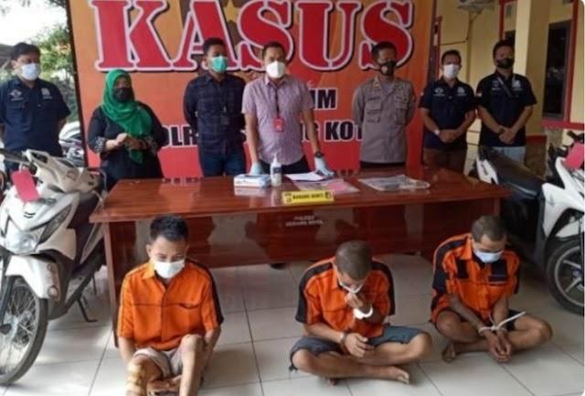 Polres Serang Berhasil Meringkus 3 Pelaku Curanmor Bersenpi Asal Lampung