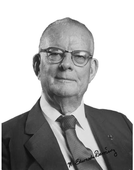dr w edwards deming W edwards deming (1900-1993) was a physicist/statistician with a phd from yale who applied the ideas of a little-known american mathematician, walter shewhart, to.