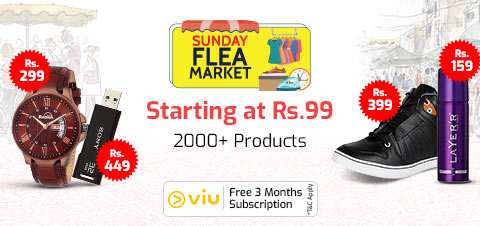 ShopClues Sunday Flea Market - Buy Products from Rs.79 (Upto 90% Off)