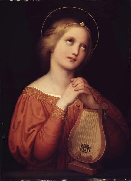Marie Ellenrieder - Die Heilige Cäcilie mit Lyra