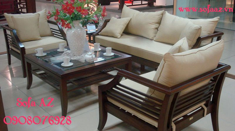May nệm ghế sofa gỗ làm nệm ngồi ghế salon gỗ