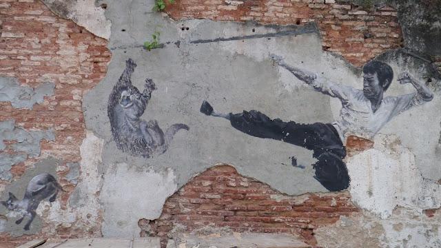 Bruce Lee - street art, georgetown - penang