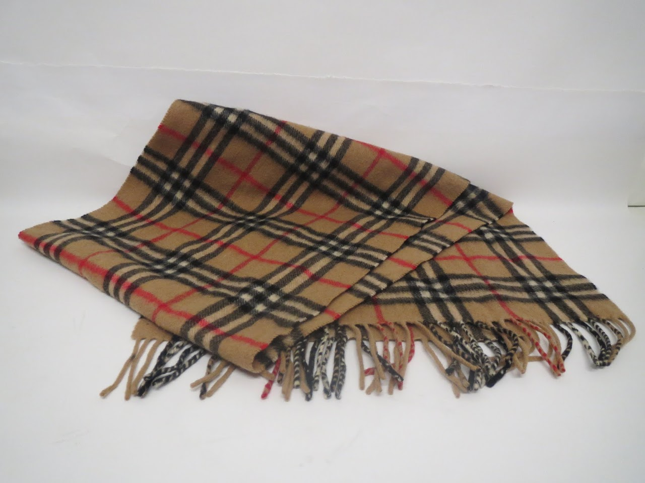 Vintage Burberry Wool & Cashmere Scarf