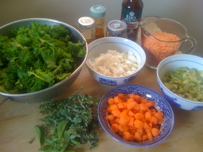 ingredients laid out for cooking