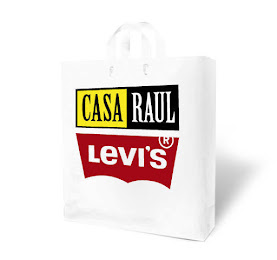 White custom printed shopping bag;