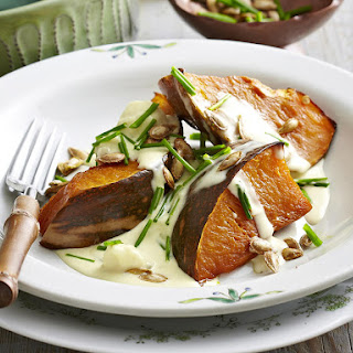 Roasted Butternut Squash with Gorgonzola Cream