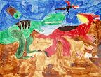 Dinosaur Fight by Joshua