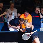STUTTGART, GERMANY - APRIL 21 : Laura Siegemund in action at the 2016 Porsche Tennis Grand Prix