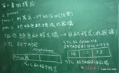 將組合語言指令轉換成機器碼
