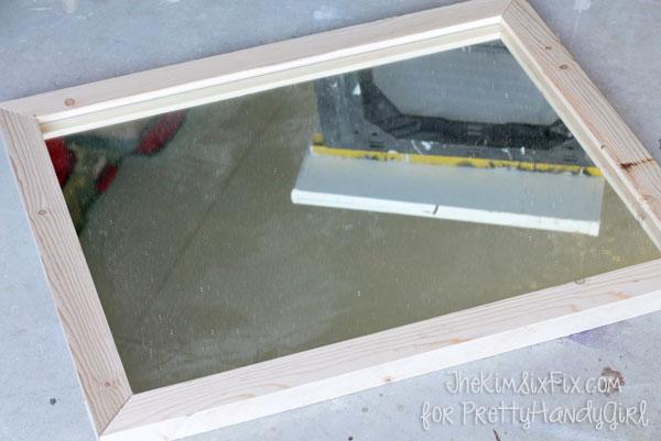DIY Wooden Framed Mirror