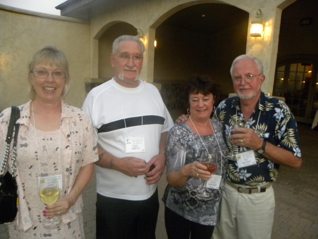 Carol Claphan, Roger Gress, Carolyn Hartley Burdick and Bud Burdick
