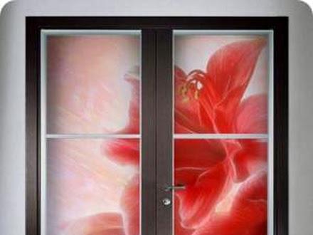 Двери межкомнатные витражные