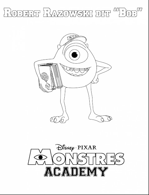 Excellent Monsters Inc Mike Wazowski Coloring Page With Monster Inc  Coloring Pages