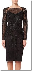 Adrianna Papell long sleeved beaded dress