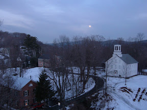 This is the view of South Woodstock that we were fortunate to see from the steeple every day.