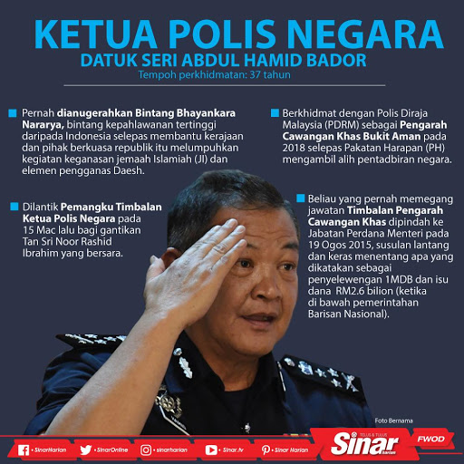 Datuk Seri Abdul Hamid Bador Ketua Polis Negara