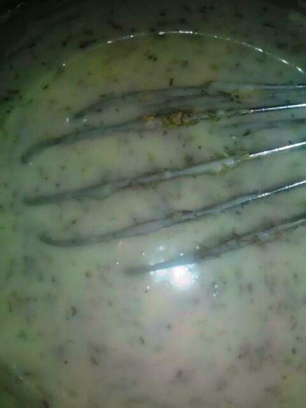 Back to lemon sauce, your sauce should be thickened now. Remove anise star, lemon,...