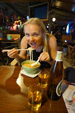 Great dinner of spicy noodles at the Last Bar on the East side of Railay Beach. Good bargain too.