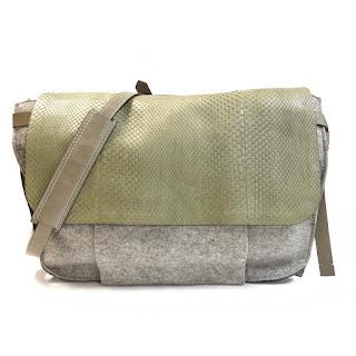 Reed Krakoff Python & Wool Felt Messenger Bag