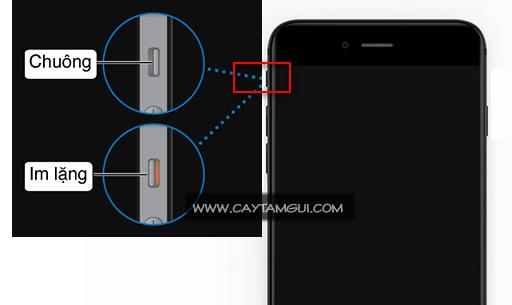 Nút gạt bật/tắt âm trên iPhone