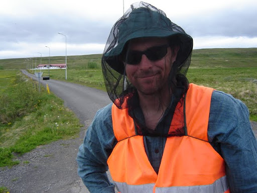 The bug hat, an essential item for vising Lake Mývatn [Iceland]