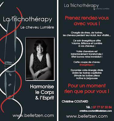 Carte De Visite Flyer Recto Verso Pour Une Trichotherapeute