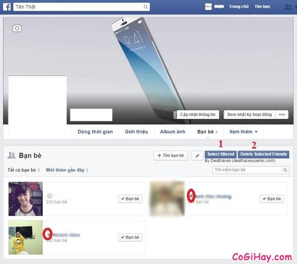 Bước 6 - Tiến hành hủy kết bạn hàng loạt trên Facebook