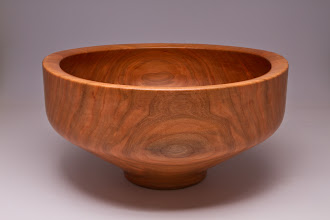 "Photo: Phil Brown 12 1/4"" x 6 1/4"" salad bowl [black cherry]"