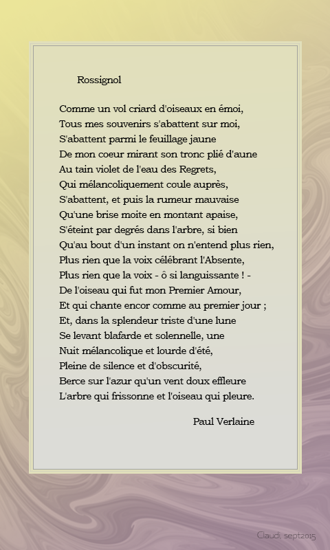 Claudi Le Piano Paul Verlaine Poème