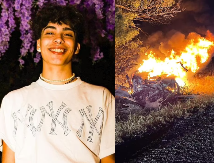 TikTok star Gabriel Salazar and three others die in fiery car crash after police chase