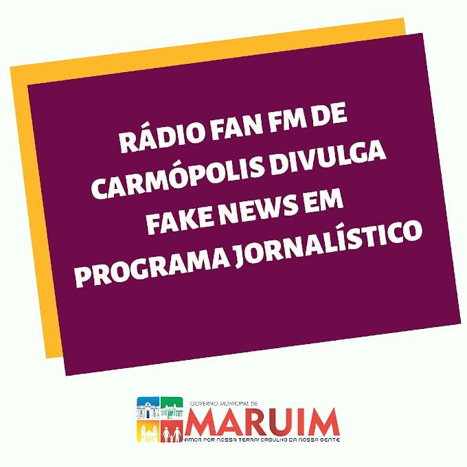 Prefeitura de Maruim divulga nota sobre fakenews da Rádio FAN FM