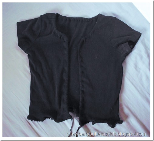 Easy diy T-shirt shrug and cardigan