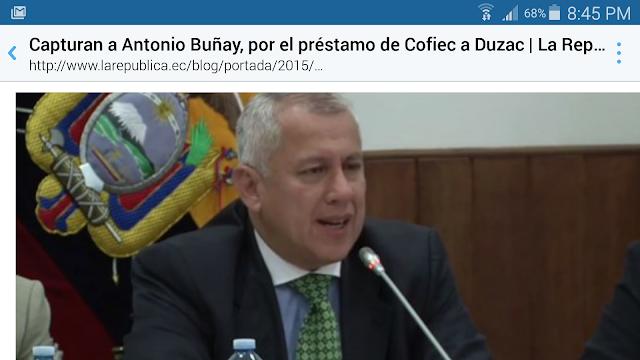 Antonio Buñay fue capturado