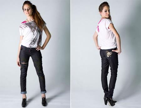 Customização de calça jeans na Temporada de Moda