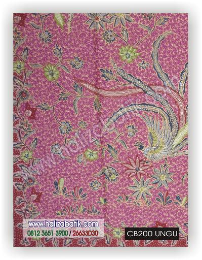 Desain Baju Batik Modern, Grosir Pakaian, Busana Batik, CB200 UNGU
