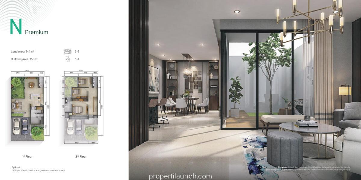 Rumah Pinewood Summarecon Bogor Tipe N Premium