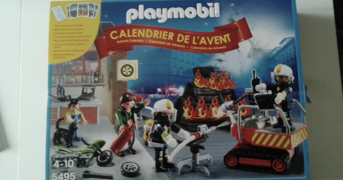 mes 3 loulous playmobil calendrier de l 39 avent pompiers. Black Bedroom Furniture Sets. Home Design Ideas