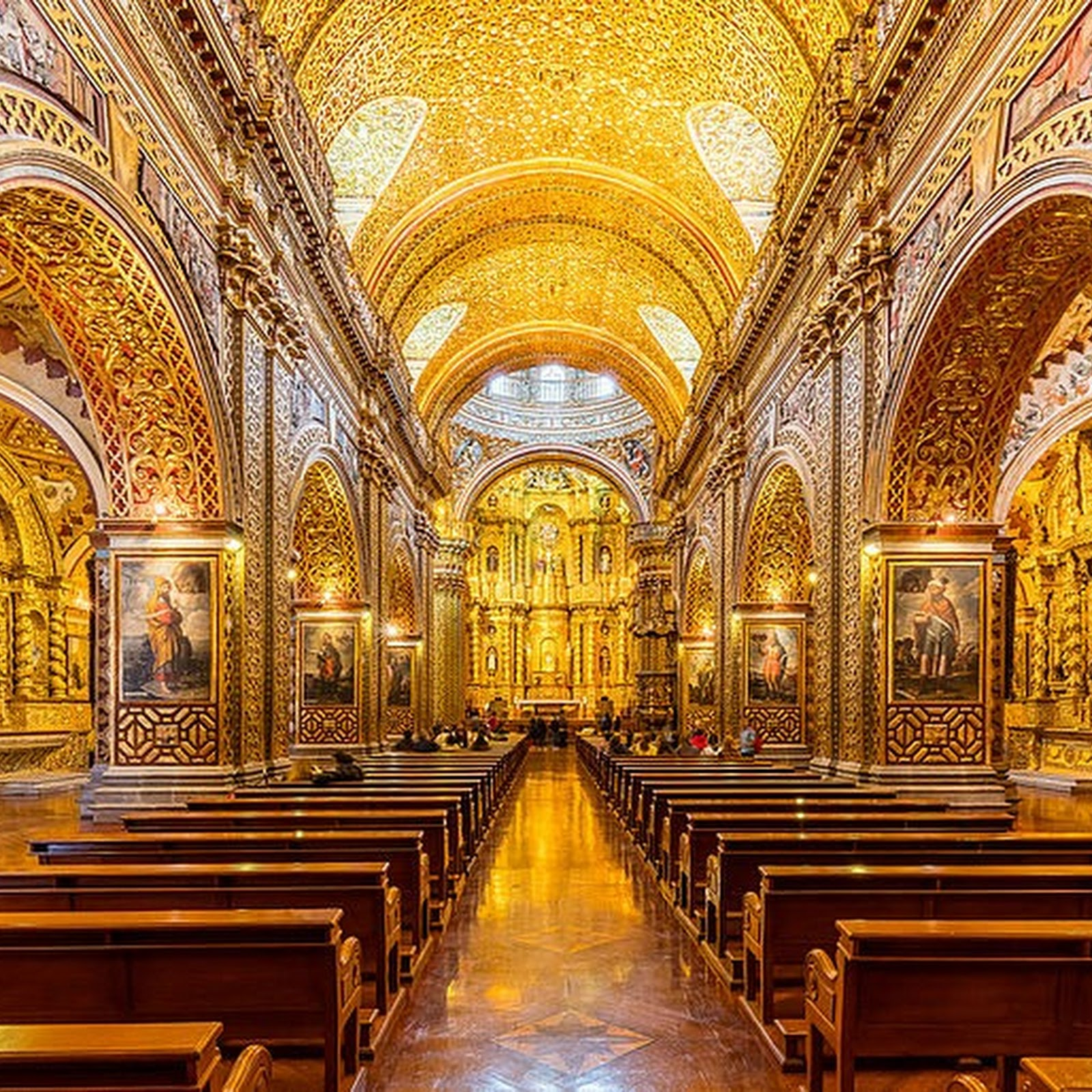 The Gilded Churches of Quito, Ecuador